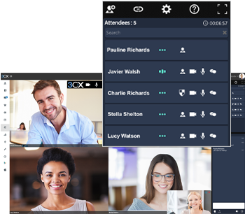 Create a video conferencing for unlimited users with 3CX