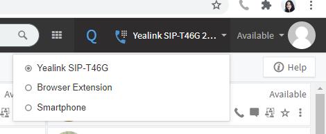 3cx web client device selector