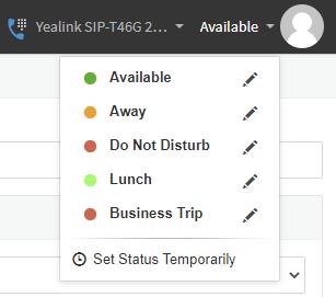 web client status selector