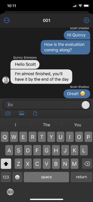 ios app update chat