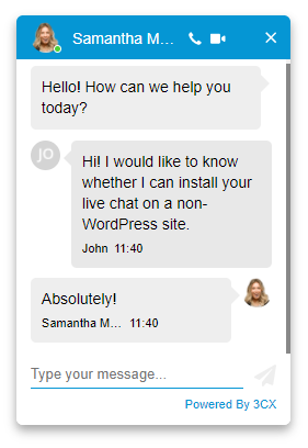 live chat for any CMS