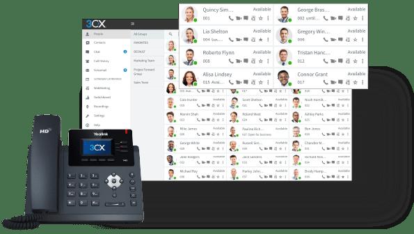 IP Phone & WebClient Screenshots