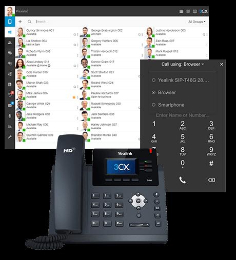 Web Client, Windows Desktop App and Deskphone Images
