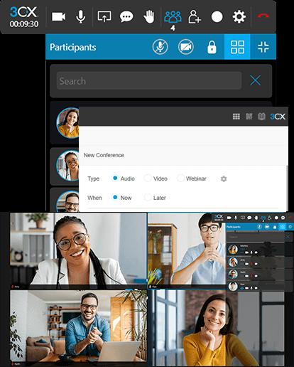 3CX video conferencing screenshot
